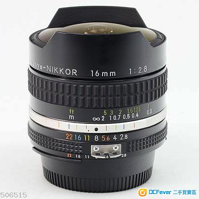 Nikon Nikkor 手動定焦 16mm f2.8 AiS Fisheye-Nikkor 魚眼鏡
