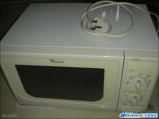 """""""惠而浦""""微波炉 (95% 新),白色,玻璃转盘,5 power level,60 minute ti"""