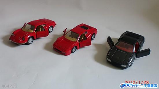 ferrari 法拉利房车三部,44cm长 , 4 1 2cm宽, 二红一黑色高清图片
