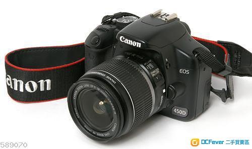 佳能400D和佳能450D相機的比較