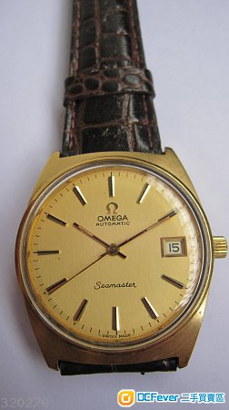 omega seamaster automatic calendar 奥米茄海霸自动日历包金表 1977图片