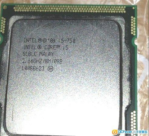 intel i5 750 cpu