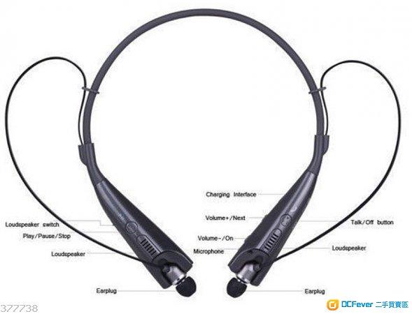 2014新款蓝牙耳机hbs-830bluetooth颈项式  双边喇叭立体声音乐通话