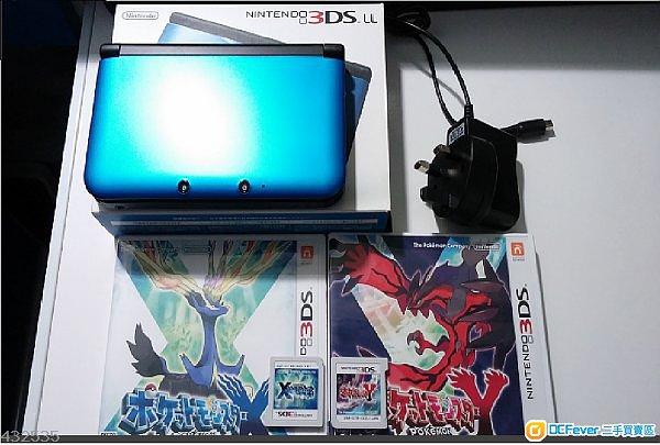 98 新 日版3dsll蓝色 pokemon ポケットモンスタ�` xy 各1...