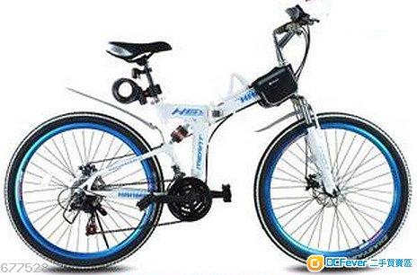 悍马碟刹26寸【白蓝色】单车