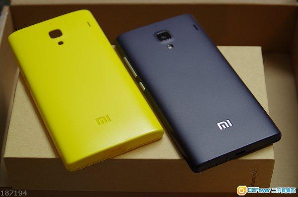 9%new 红米 手机 连小米充电器及黄色双材质保护壳 香港行货 双卡双待