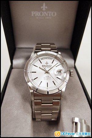 出售 pronto 星期日历 十三划 款全钢男装自动手表 高清图片