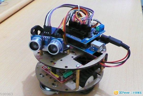 全新arduino 超声波, 红外线遥控及有蓝芽多功能智能小车套件