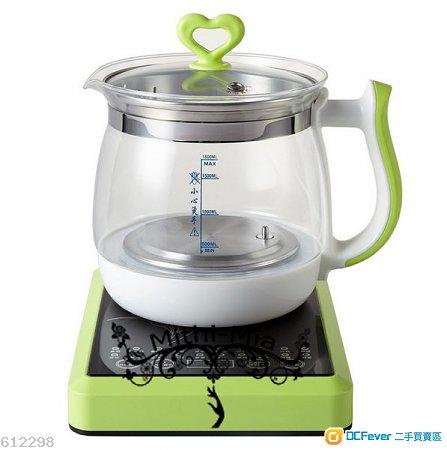 mithi-美思定制 d3 多功能玻璃电热水壶 送移动电源 (养生壶 电煮锅