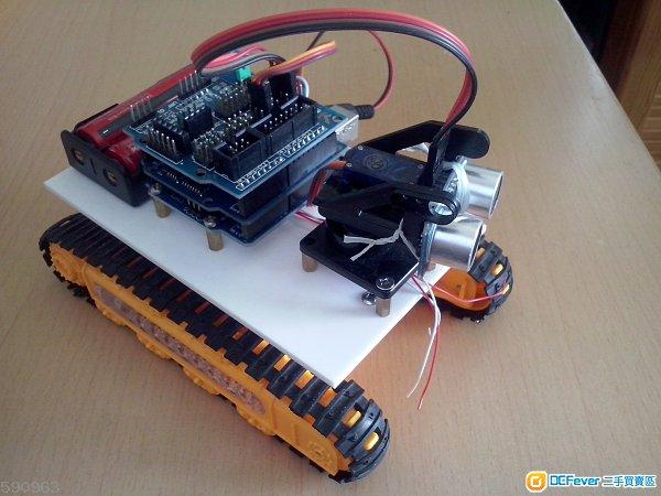 最新arduino 超声波, 红外线遥控多功能智能小车及学习套件 送胶盒一